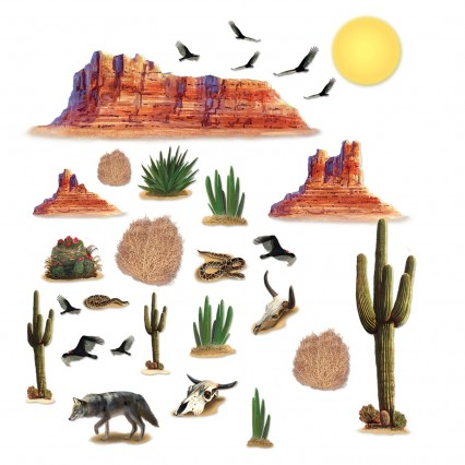 Scene Setter Add On - Wild West Desert Props