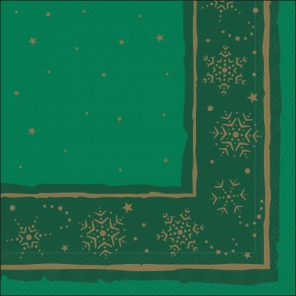 Green Xmas Star Napkin