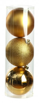 150mm Decorated Tree Baubles - Pack 3