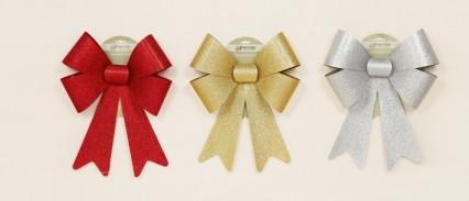 Decorative Glitter Bow - Red