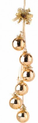 Shiny Hanging Baubles - Gold