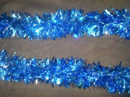 Extra Thick Tinsel Garland - Blue