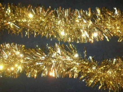 Extra Thick Tinsel Garland - Gold