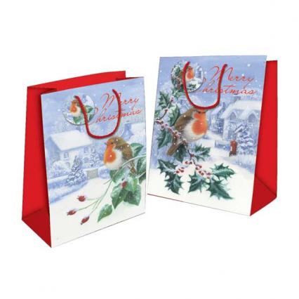 Xmas Gift Bags - Robin Design