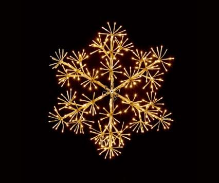 Gold Starburst Snowflake 60cm