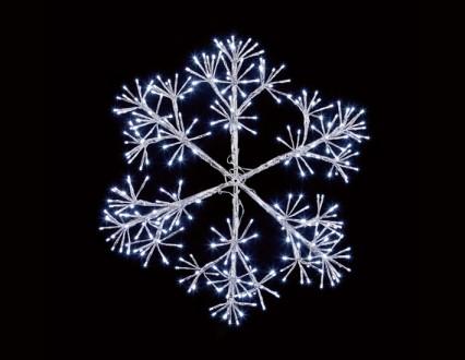 Silver Starburst Snowflake 60cm