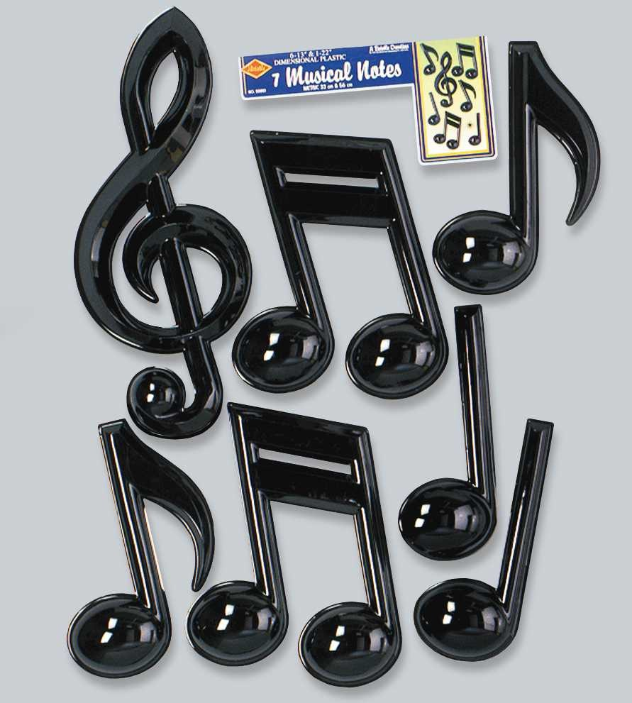 Small Plastic Music Notes