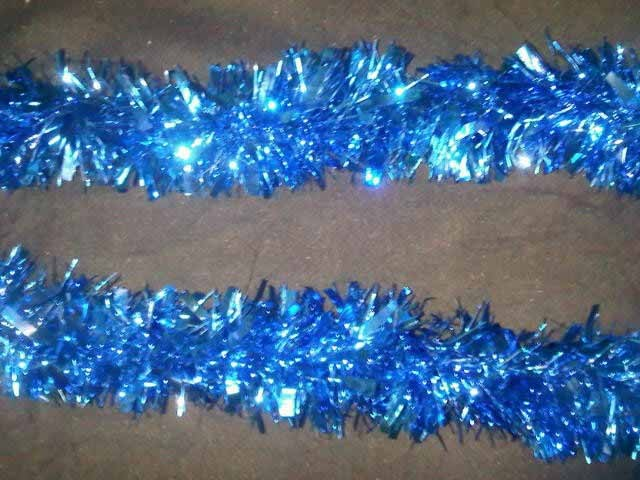 Extra thick tinsel garland blue foil garlands