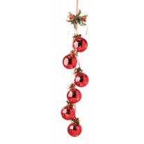 Shiny Hanging Baubles - Red
