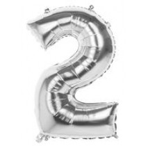 "34"" Silver Foil Numbers"