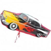"""50s Rockin' Car 35"""" Foil Balloon"""