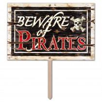 Beware of Pirates 3D Yard Sign