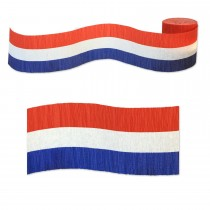 Crepe Roll - Red/White/Blue - Flame Retarded