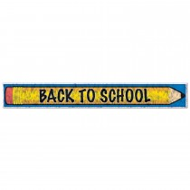 Metallic Fringe Back to School Sign