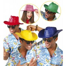 Neon Colour Straw Hats (Pk10)