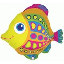 "Angel Fish Foil Balloon 28"""