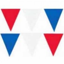Pennant Bunting -10m - Red White Blue