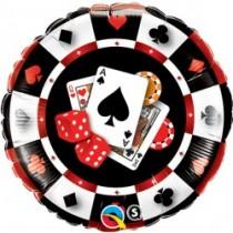 "18"" Foil Balloon - Casino $"