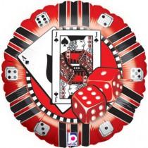 "18"" Foil Balloon - Casino Chip"
