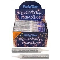 Fountain Candles - Silver