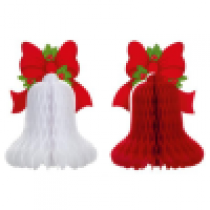 Red/White Honeycomb Bell with Bow