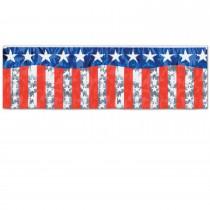 Metallic Stars & Stripes Fringe Banner
