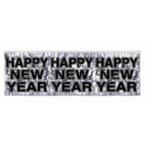 Metallic Happy New Year Banner