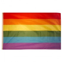 Rainbow Gay Pride Polyester Flag