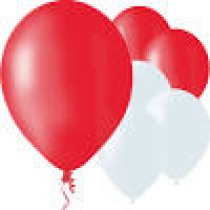 """12"""" Balloons - Red/White"""