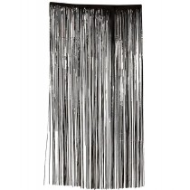 Slashed Curtain - Black
