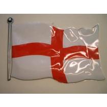 St George Plastic Display Flag