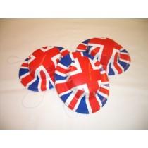 Miniature Plastic Hats - Union Jack Print