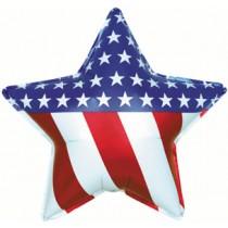 """18"""" Star Shape Foil Balloon - USA"""