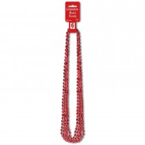 Red Heart Party Beads