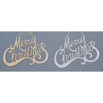 Glitter Merry Xmas Hanger - 2 assorted