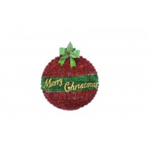 Large Tinsel Ball Wall Plaque