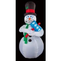 Air Blown Shivering Snowman