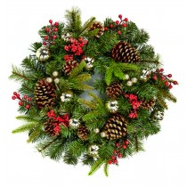 Decorated Berry Cone Wreath 60cm