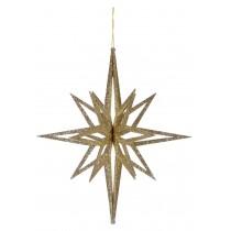 3D Gold Glitter Star
