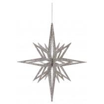 3D Silver Glitter Star