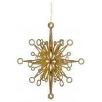 3D Gold Glitter Snowflake 60cm