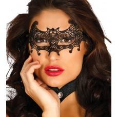 Black Embroidered Bat Mask