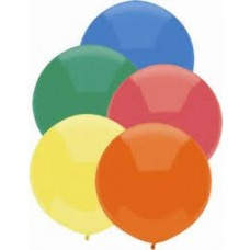 "36"" Round Latex Balloon - Black"