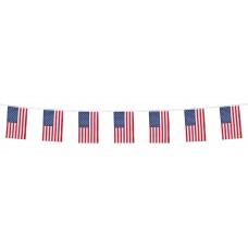 USA Polyester Flag Bunting 4M