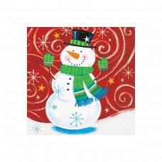 Snowman Swirl Xmas Napkin