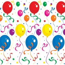Scene Setter - Balloons & Confetti Backdrop