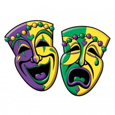 """Comedy Tragedy Face Cut Outs 12"""""""