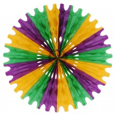 "Wall Fan - 25"" - Green/Yellow/Purple"