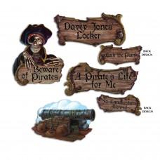Pirate Cut Outs Pk4