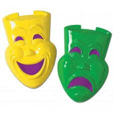Comedy Tragedy Plastic Faces 21""